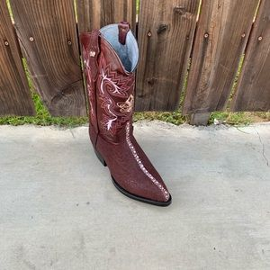 Men/'s Genuine Cowhide Stingray Print Boots Square Toe Handcrafted Quality Boots
